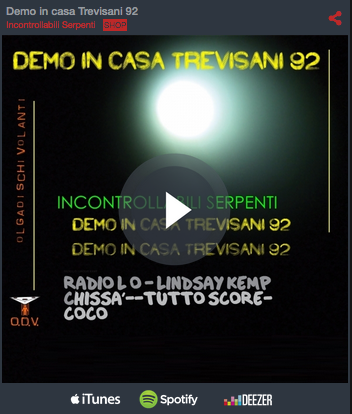 Demo in casa Trevisani EP – Incontrollabili serpenti - release